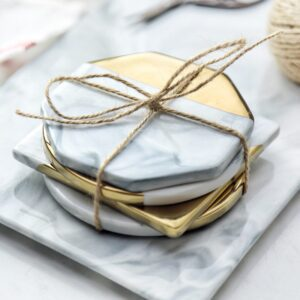 Oliver Spence Desk Decor Marble Gold Coaster